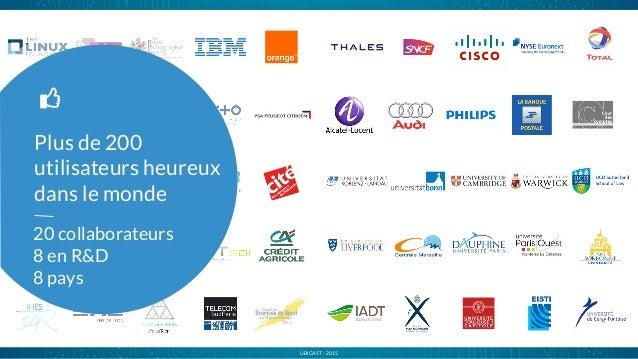 UBICAST - 2015 Plus de 200 utilisateurs heureux dans le monde l 20 collaborateurs 8 en R&D 8 pays