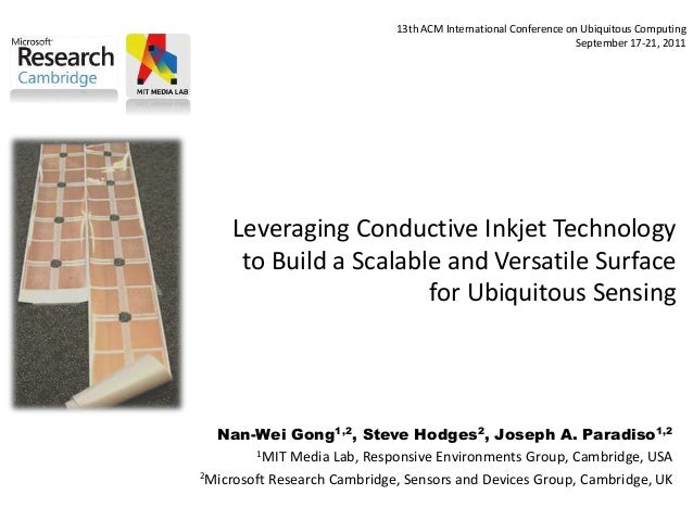 Leveraging Conductive Inkjet Technology to Build a Scalable and Versatile Surface for Ubiquitous Sensing Nan-Wei Gong1,2, ...