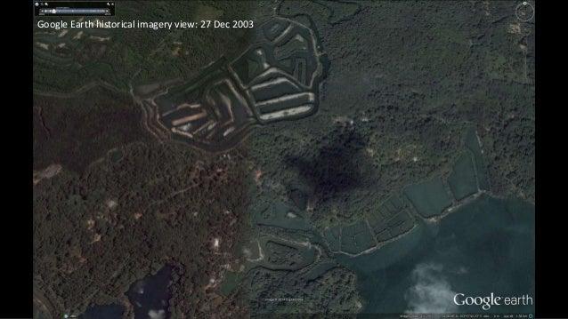 Ubin mangroves google earth historical views