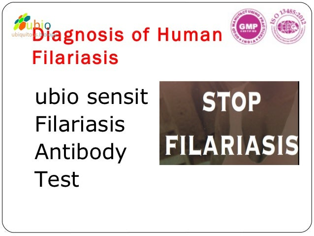 Diagnosis of HumanFilariasisubio sensitFilariasisAntibodyTest