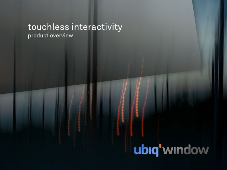 touchless interactivity product overview