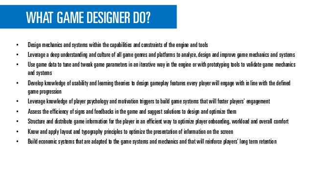 Game Designers Journey - What does a game designer do