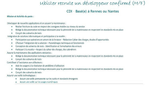 Formation en informatique (Bac +4 minimum) Expérience professionnelle significative en entreprise ou cabinet de conseil En...