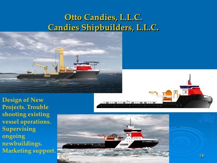 Otto Candies, L.L.C.                Candies Shipbuilders, L.L.C.     Design of New Projects. Trouble shooting existing ves...