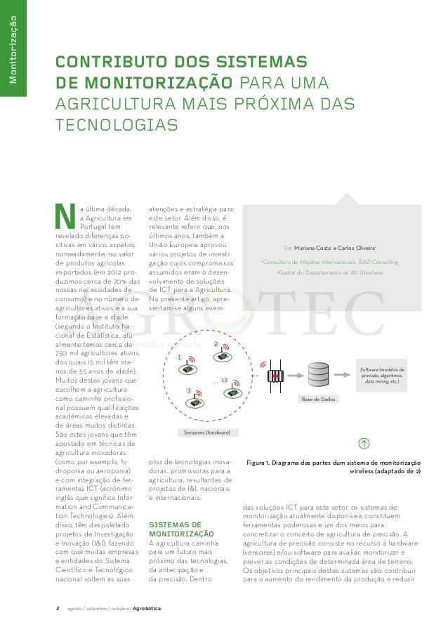 2 agosto / setembro / outubro · Agrobótica  Monitorização  CONTRIBUTO DOS SISTEMAS  DE MONITORIZAÇÃO PARA UMA  AGRICULTURA...