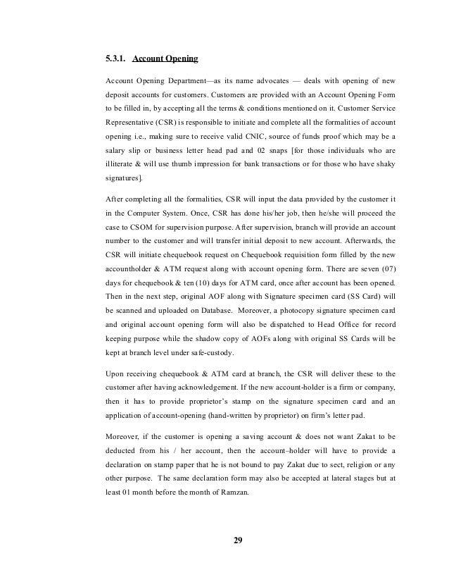 internship report on ubl Ubl internship report download.