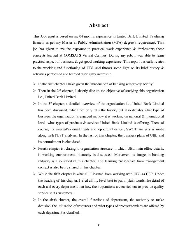 internship report on ubl bank 40 Introduction of united bank limited 3 investments plans by ubl 4  this internship report is actually is  with a domestic market share of over 40 hbl was.