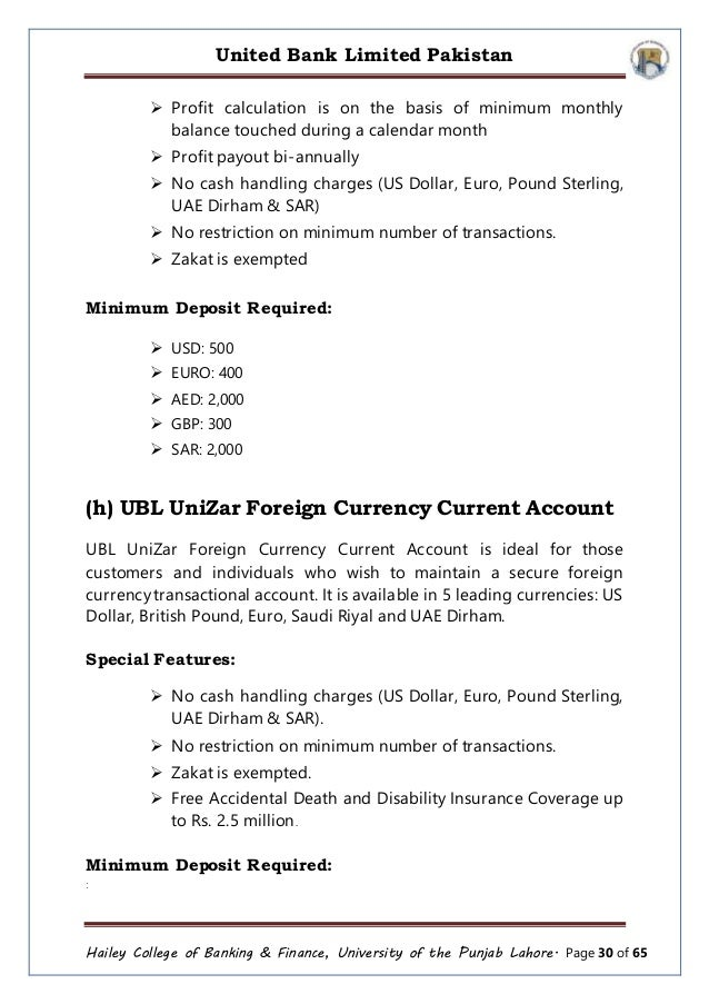 Ubl forex rates