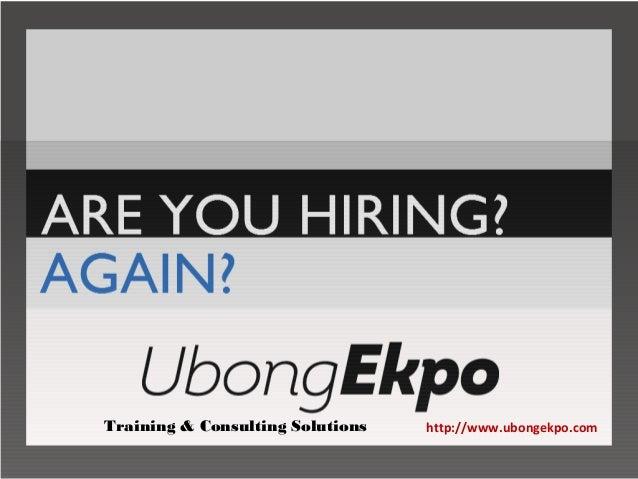 http://www.ubongekpo.comTraining & Consulting Solutions