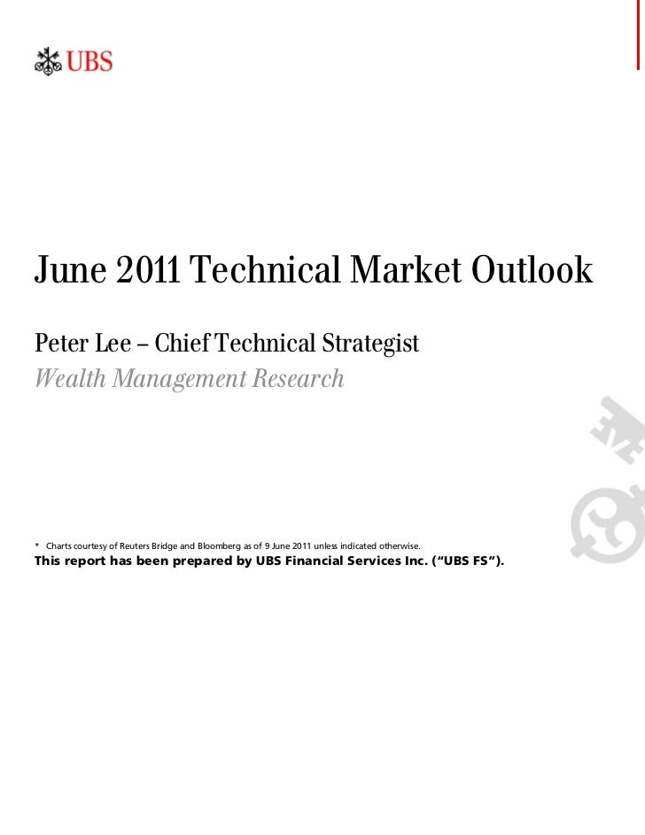 June 2011 Technical Market OutlookPeter Lee – Chief Technical StrategistWealth Management Research* Charts courtesy of Reu...
