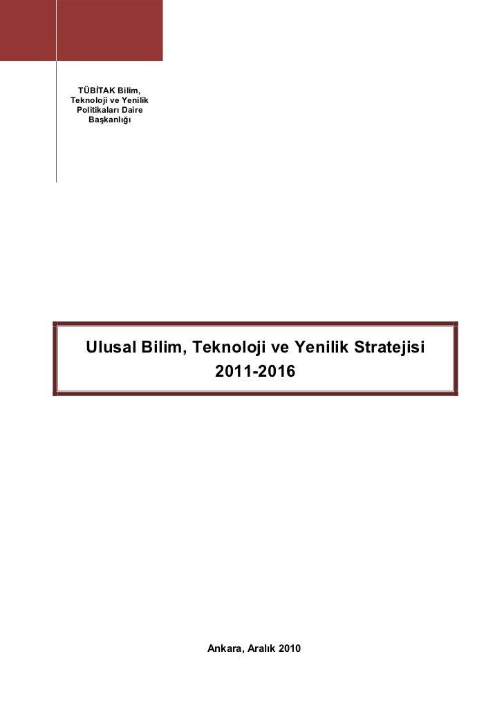 BTYP-UP 2011-2016                                        TÜBİTAK Bilim,                                       ...