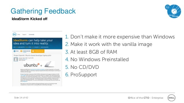 Office of the CTO - EnterpriseSlide 14 of 42 1. Don't make it more expensive than Windows 2. Make it work with the vanilla...