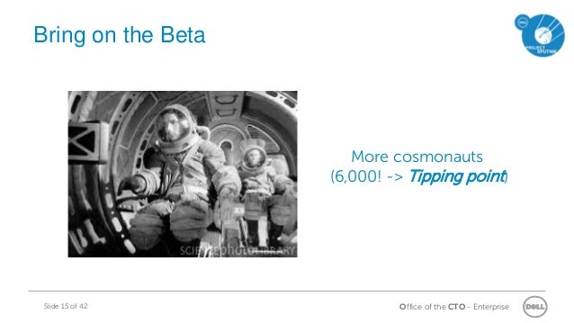 Office of the CTO - EnterpriseSlide 15 of 42 More cosmonauts (6,000! -> Tipping point) Bring on the Beta