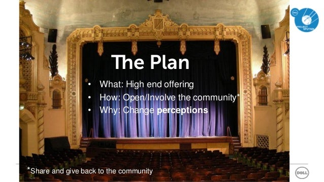 Office of the CTO - EnterpriseSlide 7 of 42 • What: High end offering • How: Open/Involve the community* • Why: Change per...