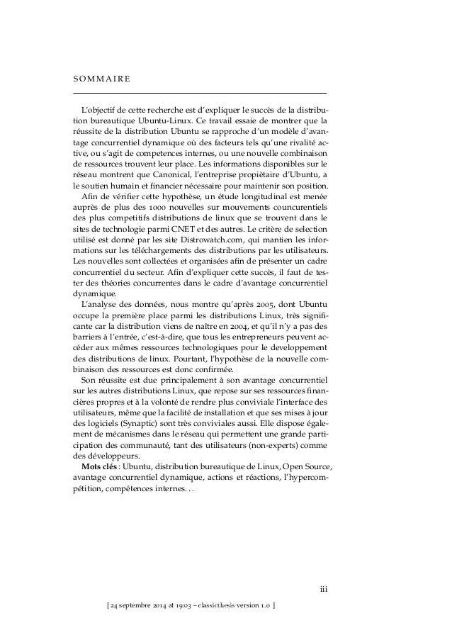 LE SUCCÈS D'UBUNTU : UN CAS D'AVANTAGE CONCURRENTIEL DYNAMIQUE DANS L'OPEN SOURCE Slide 3