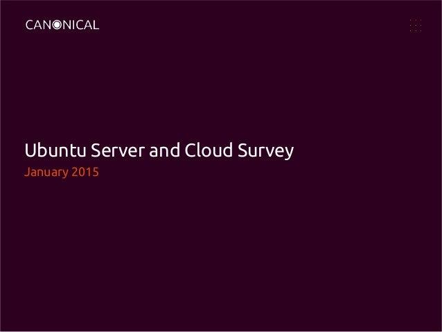 Ubuntu Server and Cloud Survey January 2015