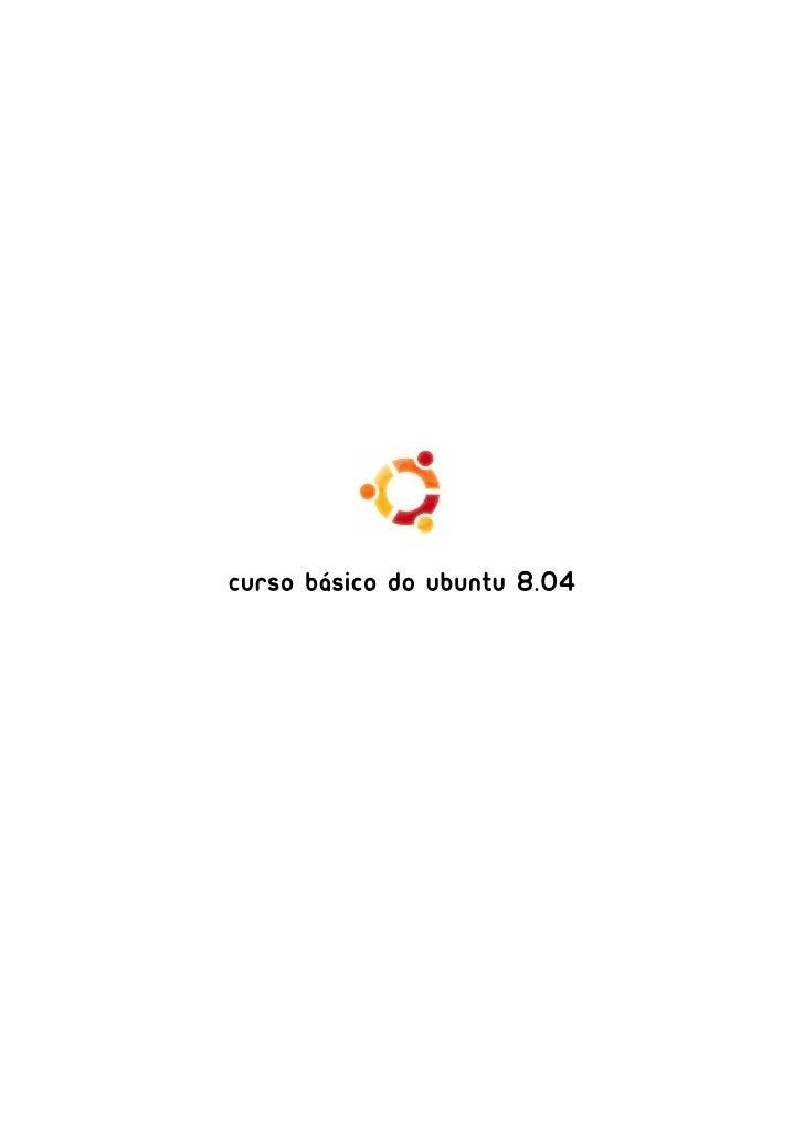 Curso Básico do Ubuntu 8.04