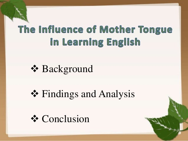 Essay mother tongue