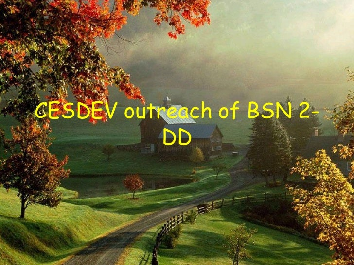 CESDEV outreach of BSN 2-DD