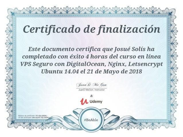 Certificado de finalización - VPS Seguro con DigitalOcean