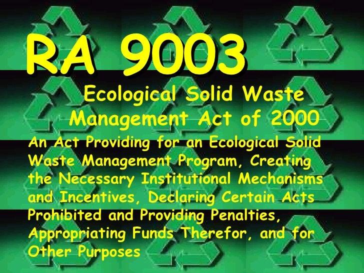 Uc Nursing Cesdev Solid Waste Management