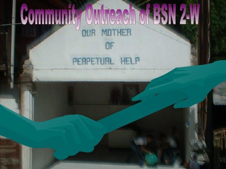 Community Outreach of BSN 2-W
