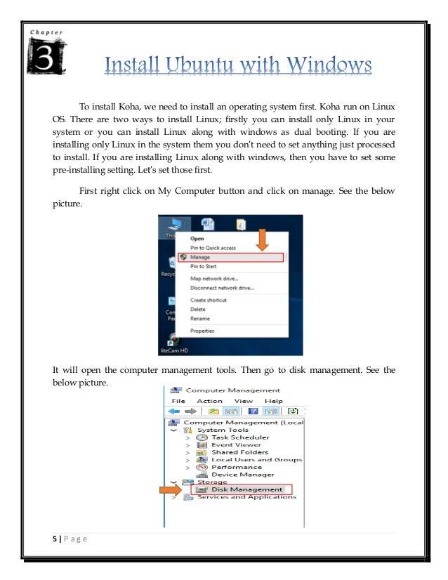 Koha Installation Manual in Ubuntu 14 04 Alongwith Windows