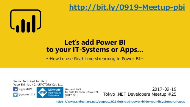Senior Technical Architect Yugo Shimizu / 2ndFACTORY Co., Ltd. @yugoes1021 yugoes1021 Microsoft MVP for Data Platform - Po...