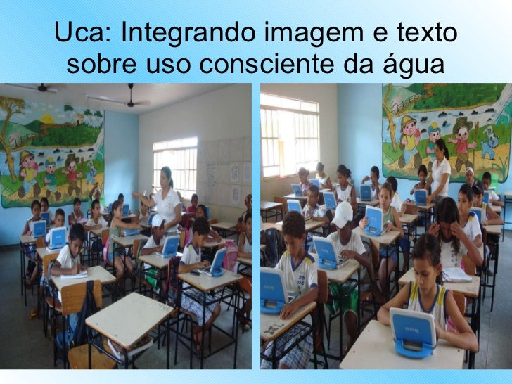 Uca: Integrando imagem e texto sobre uso consciente da água