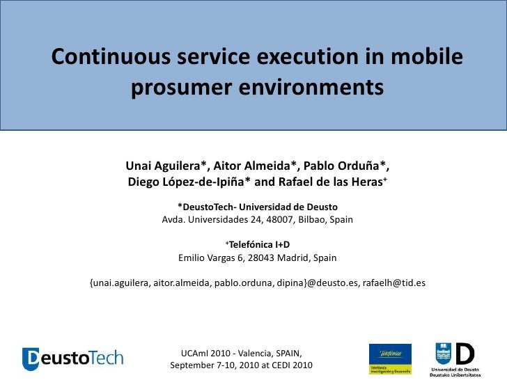 Continuous service execution in mobile prosumer environments