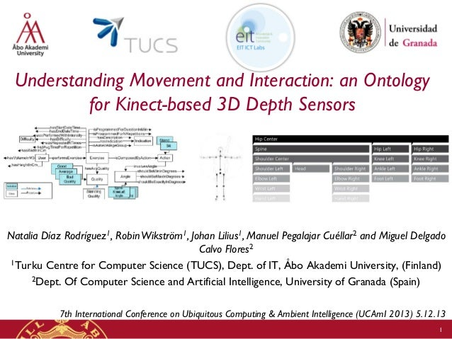 Understanding Movement and Interaction: an Ontology for Kinect-based 3D Depth Sensors  Natalia Díaz Rodríguez1, Robin Wiks...