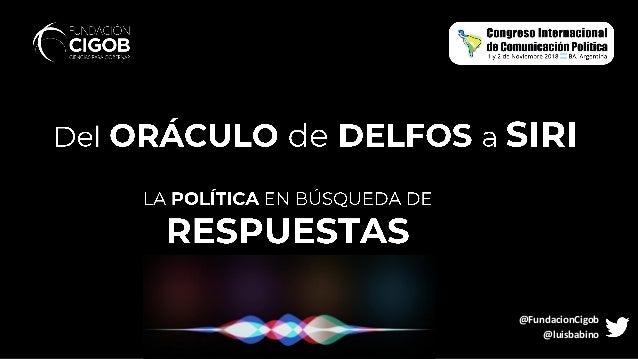 @FundacionCigob @luisbabino