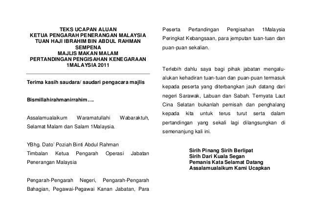 TEKS UCAPAN ALUAN                           Peserta    Pertandingan      Pengisahan      1Malaysia KETUA PENGARAH PENERANG...