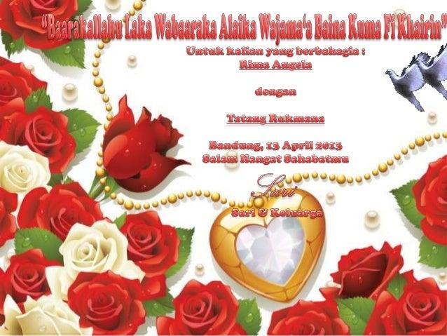 Ucapan Pernikahan Untuk Sahabatku Rima Anggela