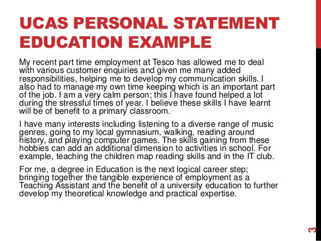 UCAS Teacher Training Personal Statement