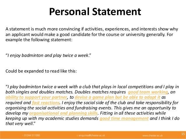 UCAS timeline Personal Statement ppt