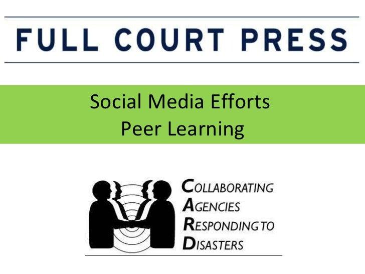 Social Media Efforts  Peer Learning