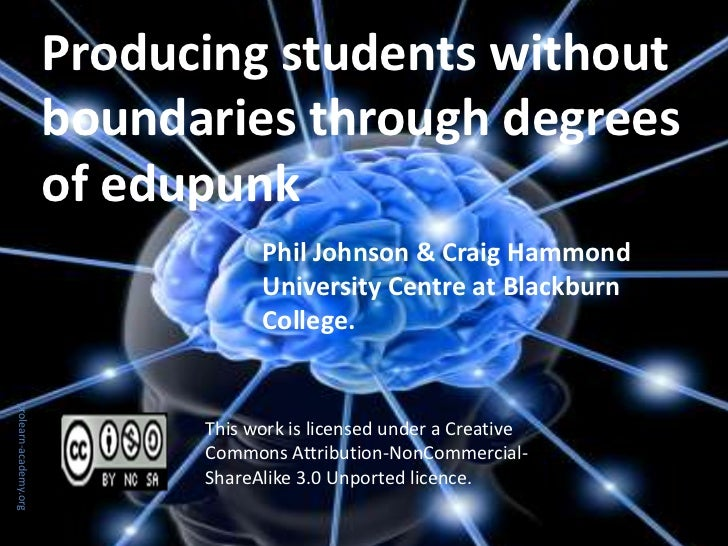 Producing students without                       boundaries through degrees                       of edupunk              ...