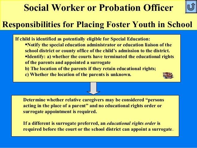 ... School; 7. Social Worker Or Probation Officer ...