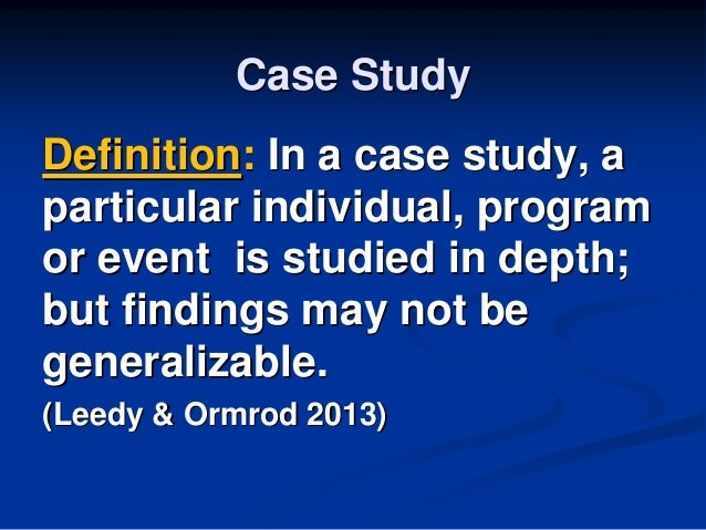 use of case study method in business research Case study research in this context is to lift the investigation from a rather than a large business the method of generalisation for case studies is not.