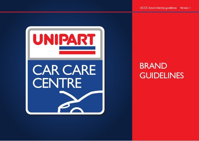 Unipart Car Care Centre brand guidelines