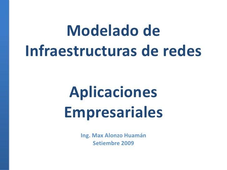 Modelado de Infraestructuras de redesAplicaciones Empresariales<br />Ing. Max Alonzo Huamán<br />Setiembre 2009<br />