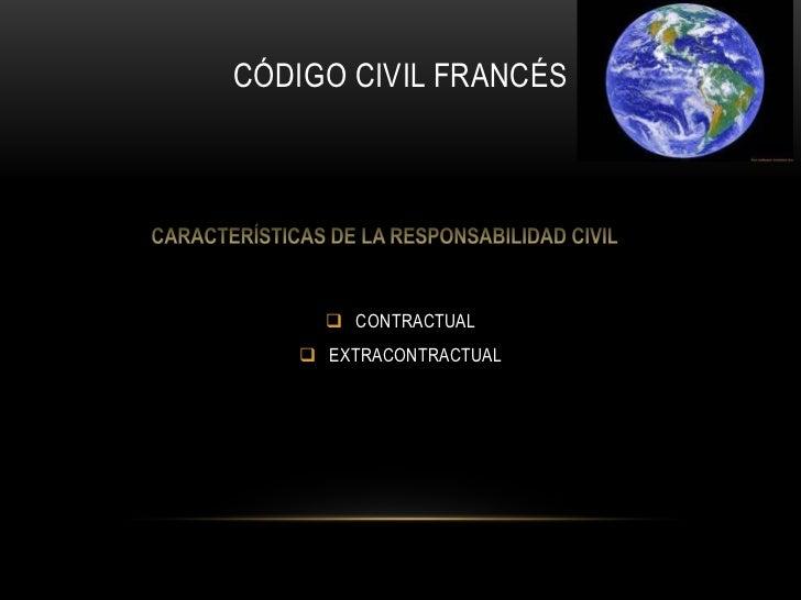 CÓDIGO CIVIL FRANCÉS<br /><ul><li>CONTRACTUAL