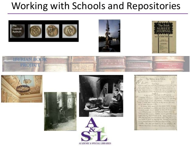 Working with Schools and Repositories