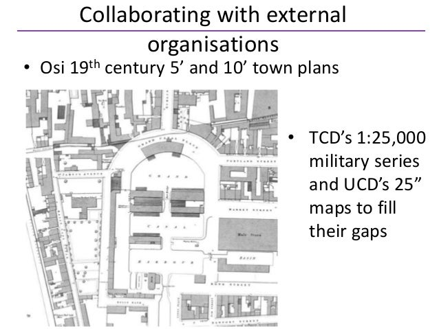Collaborating with external             organisations• Osi 19th century 5' and 10' town plans                             ...