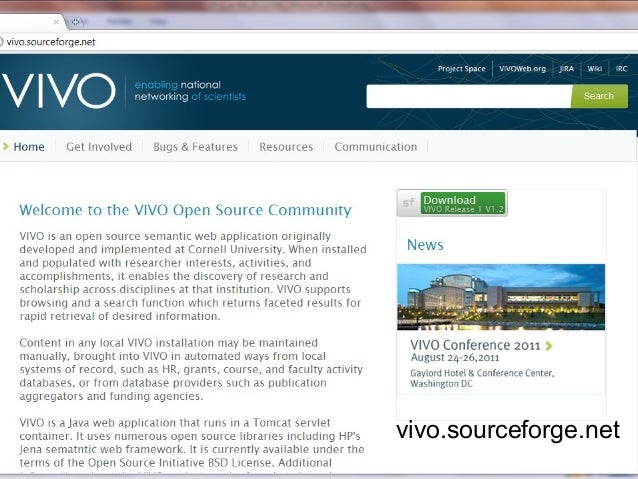 Facilitating Open Science and Research Discovery via VIVO and the Sem…