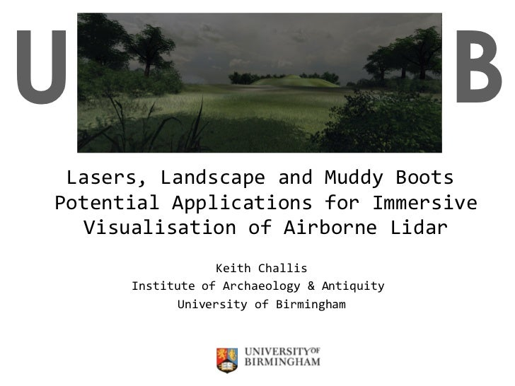 Lasers, Landscape and Muddy Boots  Potential Applications for Immersive Visualisation of Airborne Lidar Keith Challis Inst...