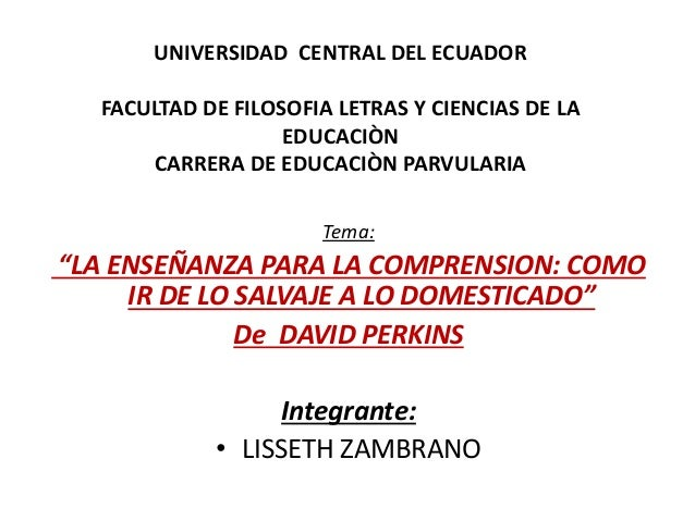 UNIVERSIDAD CENTRAL DEL ECUADOR FACULTAD DE FILOSOFIA LETRAS Y CIENCIAS DE LA EDUCACIÒN CARRERA DE EDUCACIÒN PARVULARIA Te...