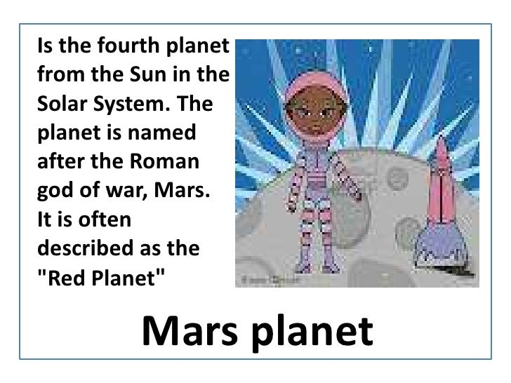 IsthefourthplanetfromtheSun in the Solar System. TheplanetisnamedaftertheRomangod of war, Mars. Itisoftendescribed as the ...