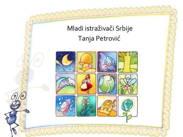 Mladi istraživači SrbijeTanja Petrović